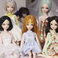 1/6 30cm cheap blyth bjd doll new born baby girl diy girl toy gift doll with dress make up shoes wigs body head