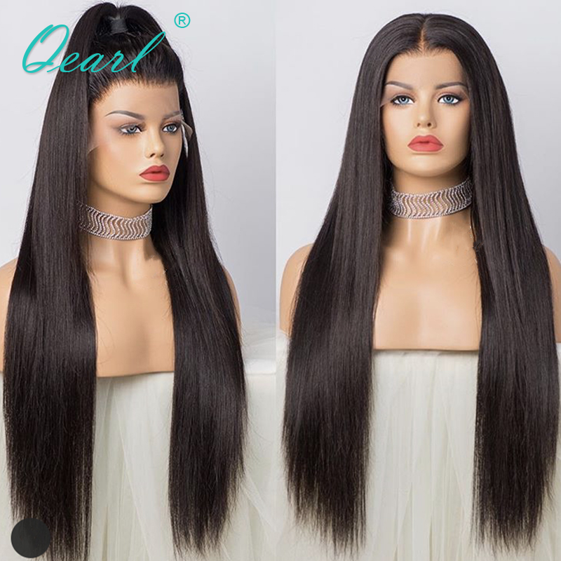 Super Long 24 26 28 Full Lace Human Hair Wigs Silky Straight Brazilian Remy Hair Pre