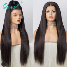 "Super Long 24""26""28"" Full Lace Human Hair Wigs Silky Straight Brazilian Remy Hair Pre Plucked Middle Part with Baby Hair Qearl"