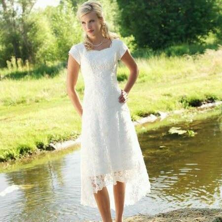 Rustic Vintage Wedding Dresses High Low