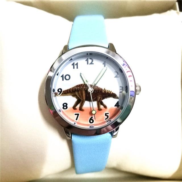 students Dinosaur pattern watches children causal quartz wrist watch 3D Cartoon