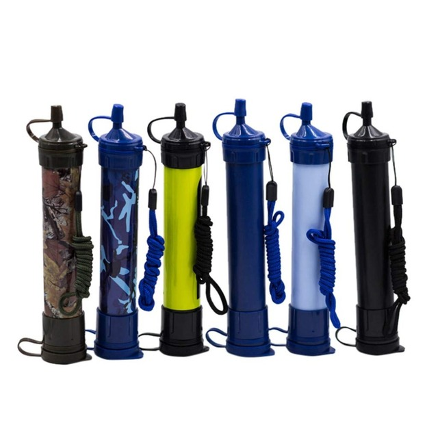 Portable Soldier Pressure Water Filter Purifier Hiking Camping Survival Emergency Safety ABS Outdoor Sports Survival Kit