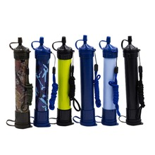 Soldado portátil purificador de filtro de agua a presión, senderismo, acampada, supervivencia, seguridad de emergencia, ABS, Kit de supervivencia para deportes al aire libre