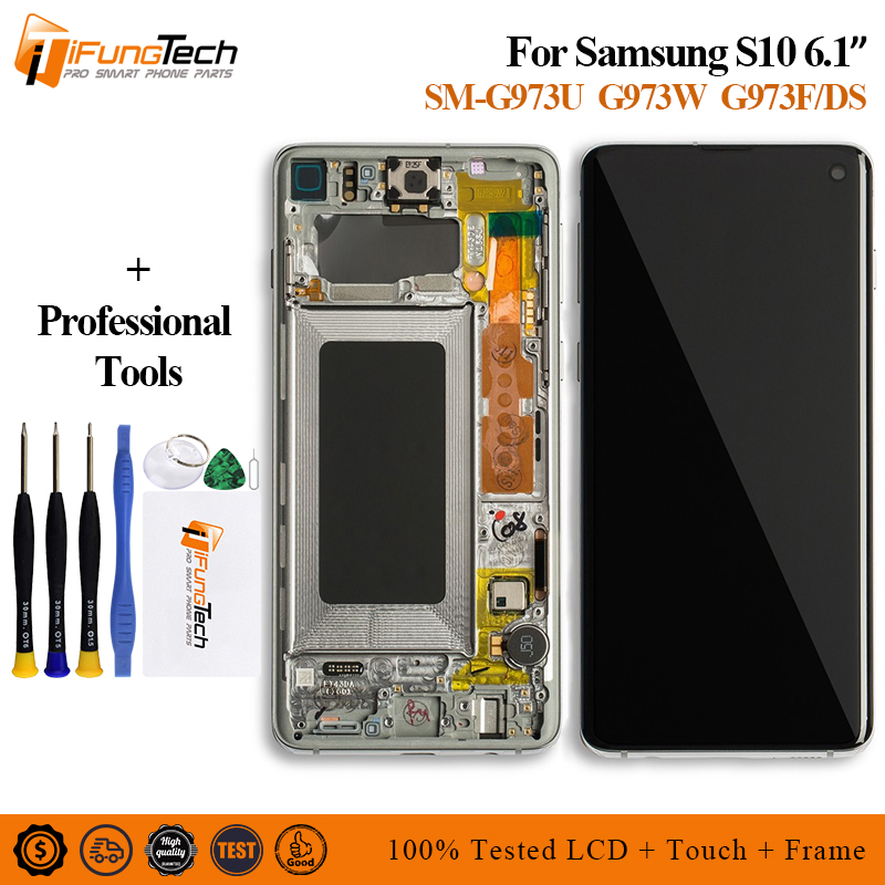 For Samsung Galaxy S10 lcd SM G973F/DSSM G973U LCD Display Touch Screen Digitizer For SAMSUNG S10 SM G973W Screen Replace-in Mobile Phone LCD Screens from Cellphones & Telecommunications    1