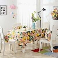 Stylish Colorful Golden Grapefruit Pattern 1pcs Bedding Tablecloth Home Table 100% Cotton Cloth Cover Textile Decoration Towels