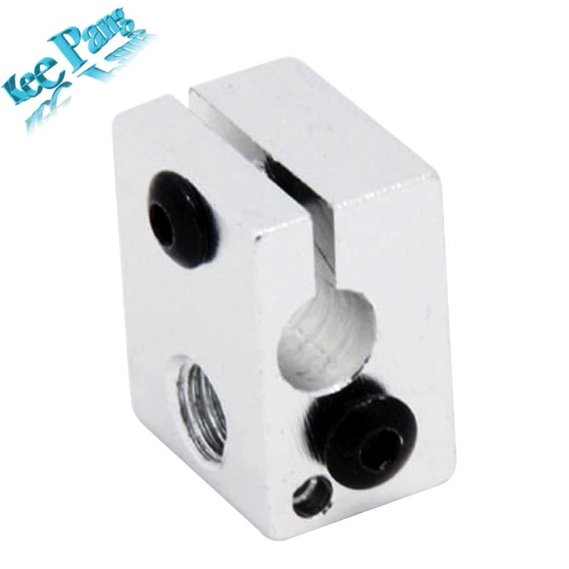 Aluminium V6 Heat Block For RepRap J-head Extruder HotEnd 3D Printers Parts Heater Hot End Heating Accessories 20*16*12 mm Part aluminium v6 heat block for reprap j head extruder hotend 3d printers parts heater hot end heating accessories 20 16 12 mm part