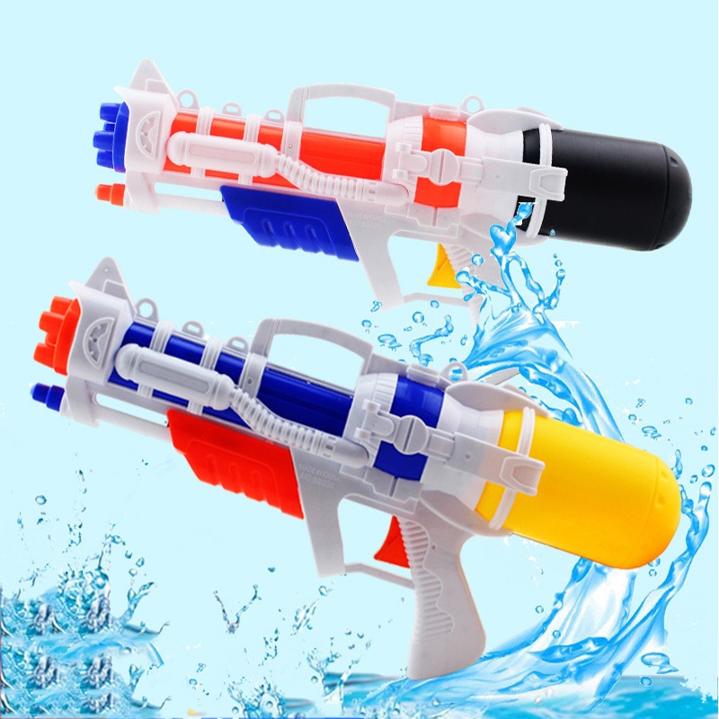 38CM Pressure Water Gun Summer Children Drifting Water Beach Toys Spray Gun Children Toys Plastic Sprinkler Water Gun