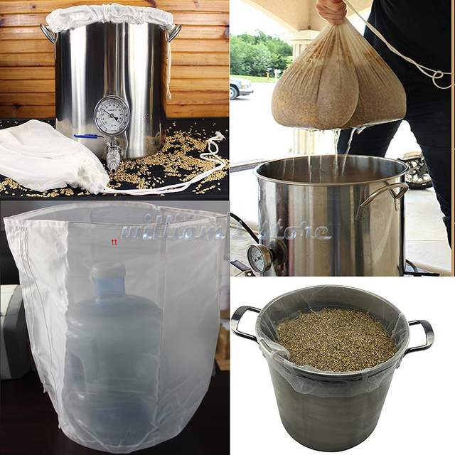 2PCS 100 Micron Nylon Straining Bag 50cm x 55cm Fine Mesh Food Strainer Filter Bags Green Juice Cold Brew Home Brewing