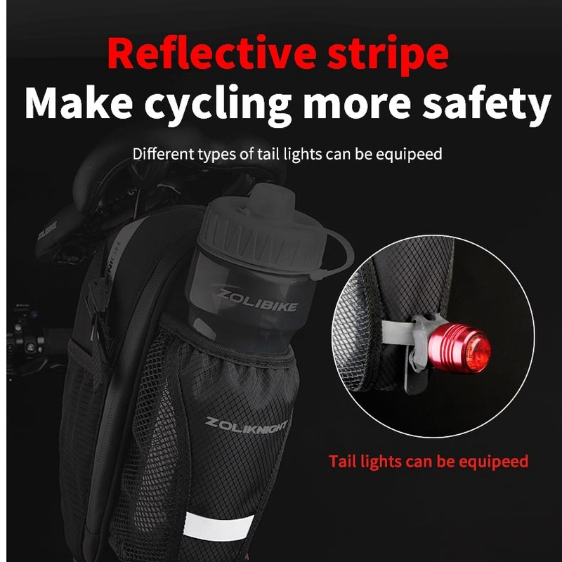 Bicycle Saddle Bag Bike Accessories Saddle Bottle Mount Cycling Rear Seat Tail Bag For Bicycle hot sell Bisiklet Aksesuar in Bicycle Bags Panniers from Sports Entertainment