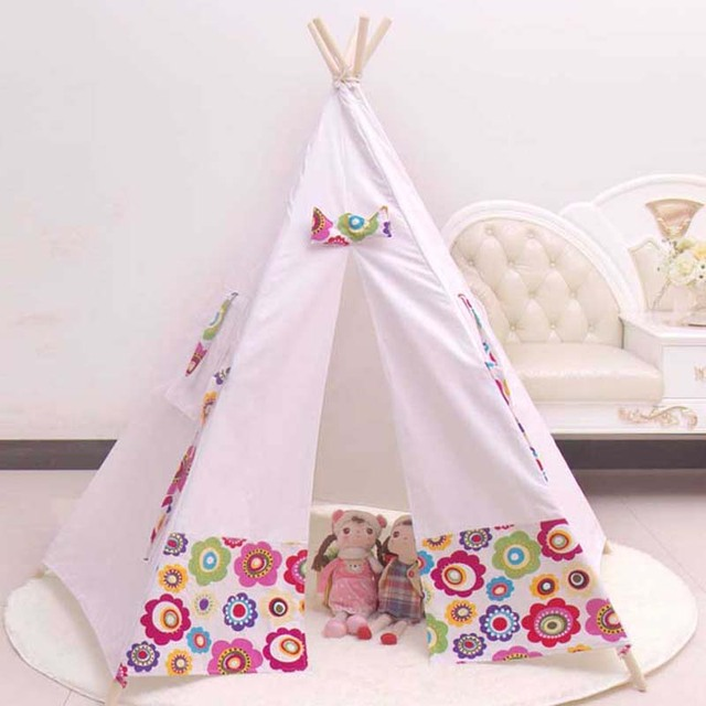 100% Cotton teepee kid tent fabric houses to play kids play tent child tent indoor & 100% Cotton teepee kid tent fabric houses to play kids play tent ...