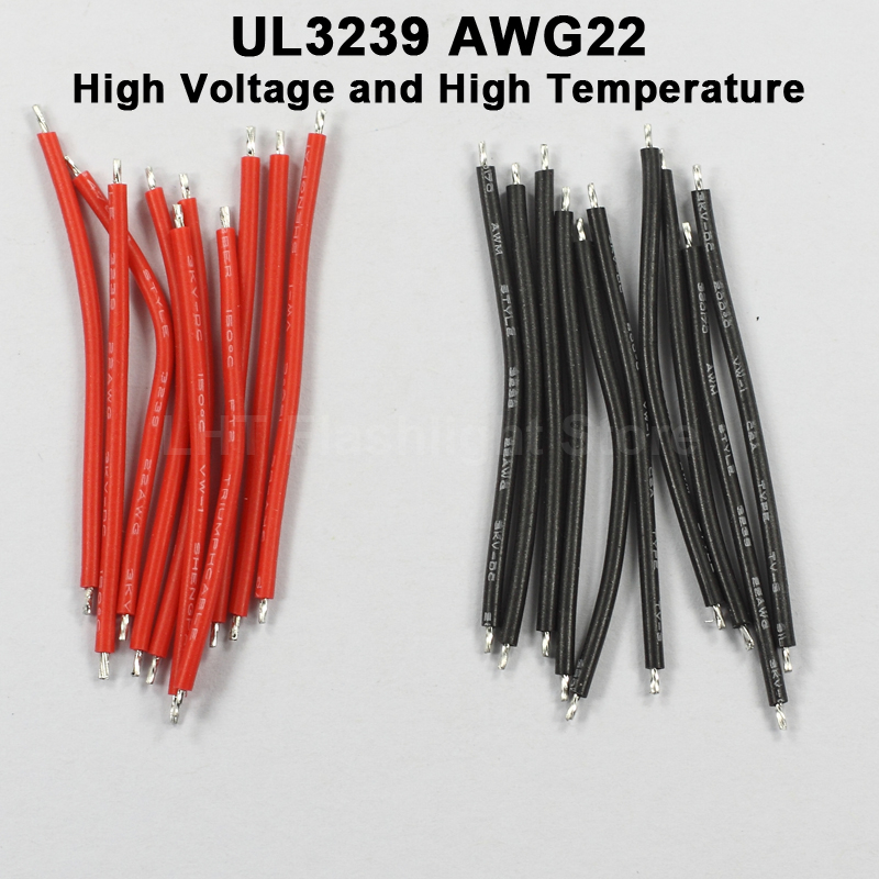 UL3239 22AWG / 24AWG / 26AWG High Voltage And High Temperature Silicone Wire - Black And White (50 Pairs)