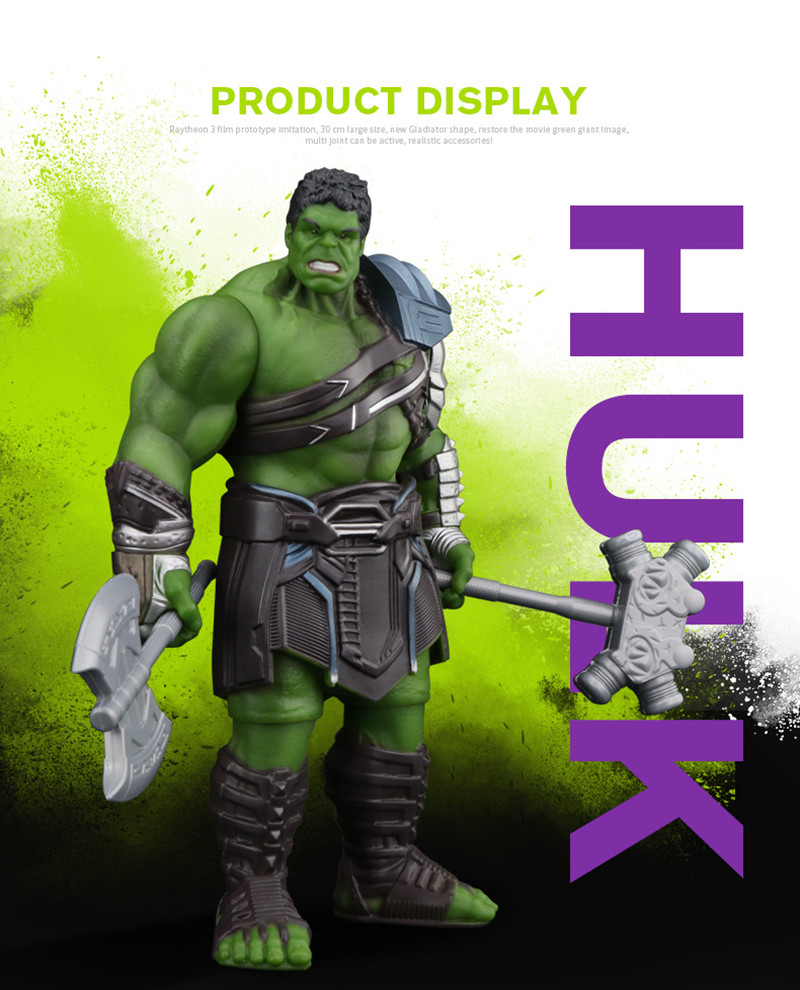 Avengers Incredible Hulk PVC Action Figure Toys Iron Man Hulk Buster Thor Ragnarok Hulkbuster 30CM Joint Movable Hulk Smash