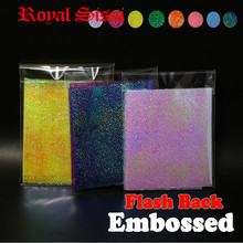 New 8colors set massive dimension Fly Tying embossed Rainbow Movie Sabiki Rig Shrimp pearl flash again fly tying supplies flashback Nymphs