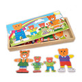 Baby Toys Cartoon 4Bear Dress Changing/Dressing Jigsaw Wooden Toys Educational Puzzle Early Development Child Birthday Gift