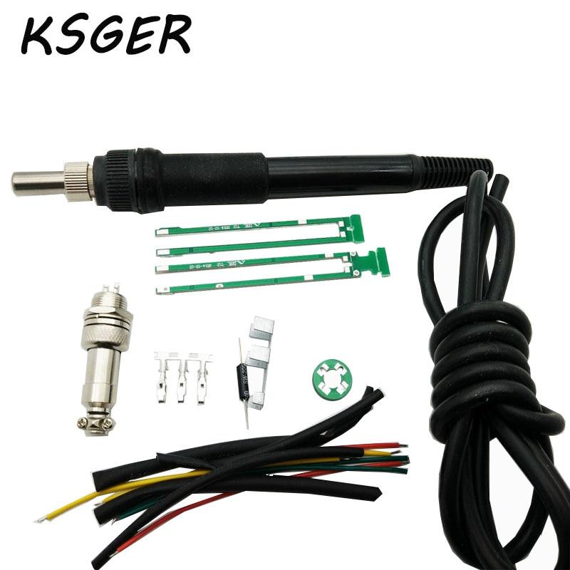 ksger new arrival diy t12 soldering handle diy soldering handle kits for hakko t12 solder. Black Bedroom Furniture Sets. Home Design Ideas