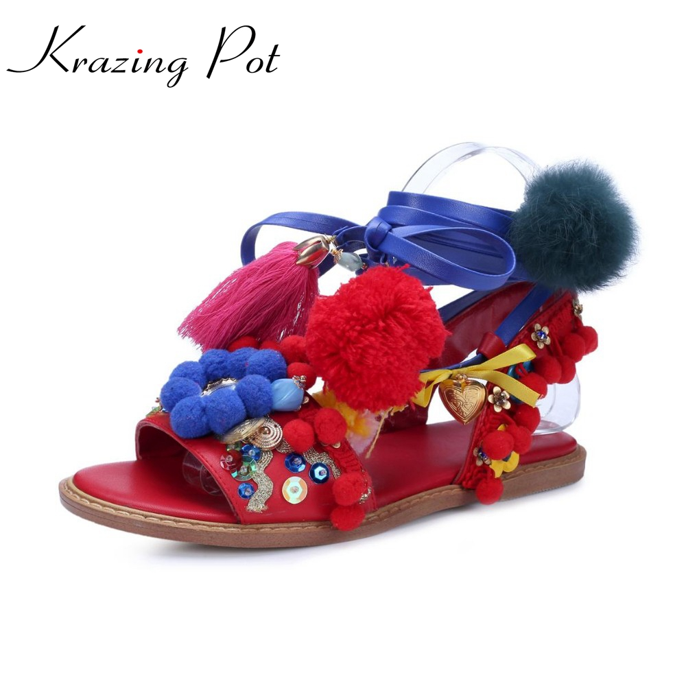 2017 New fashion Chinese style brand shoes sexy flower ankle lace up women sandals colors ball