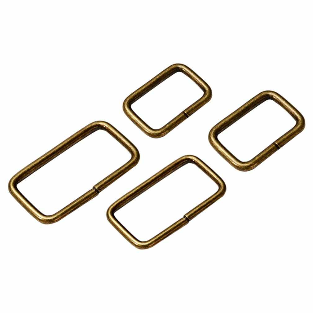 Silver Multi-size DIY Metal Hand Bag Shoe Strap Belt Web Adjust Roller Pin Buckle Snap Rectangle Ring Leather Craft Repair Tools