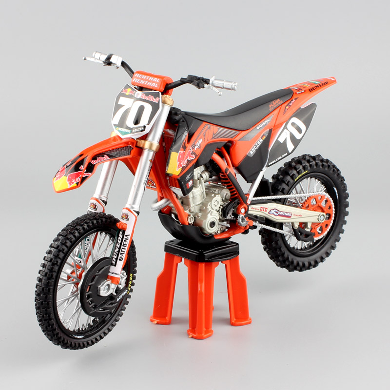 1/12 Scale 2012 KTM 250 SX-F No.70 Racer KEN ROCZEN Red Bull Motorcycle Motocross Dirt Bike Diecasts & Toy Vehicles Model Enduro
