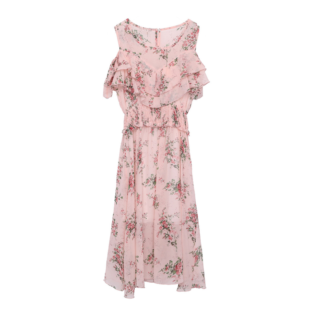 Summer new style fashionable sex appeal shows shoulder snow to spin dress plus size women