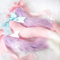 High Qulity Lovely Japanese Soft Fox Tail Bow Silicone Butt Anal Plug Erotic Cosplay Accessories Adult Sex Toys For Couples
