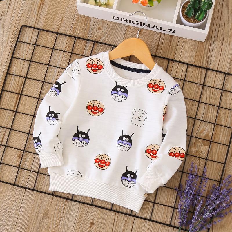 Fashion cartoon cotton boys and girls sweater shirt 2018 autumn new children's wear