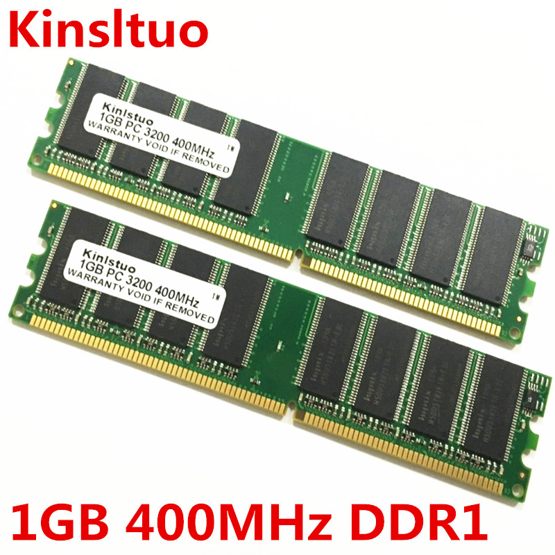 Brand new sealed  1GB  DDR 400Mhz  2GB  ( 1GBX2 ) PC 3200 desktop computer memory  Support all DDR1 motherboard brand new ddr1 1gb ram ddr 400 pc3200 ddr400 for amd intel motherboard compatible ddr 333 pc2700 lifetime warranty