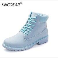 KNCOKAR jesienią i zimą mody sprzedaży ciepła, z przodu sznurowane buty mody, w tym samym stylu i różnych kolorów buty
