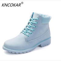 KNCOKAR In The Fall Of And Winter Heat Sales Fashion The Fashion Front Lace Up Boots