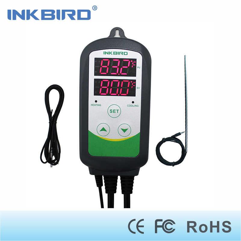 Inkbird ITC-308S EU stecker + Lange & Kurze sensor Heizung Kühlung Thermostat für Homebrewing Fermenation, Carboy, Gefrierschrank, kegerator