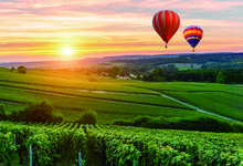 Laeacco Village Field Hot Air Balloon Photography Backgrounds Vinyl Digital Customized Photographic Backdrops For Photo Studio laeacco clover light spot st patrick s day photo backgrounds vinyl digital customized photography backdrops for photo studio