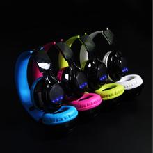 Free shipping New Headset Bluetooth earphone wholesale LED Luminable can  foldable movement Sports Wireless Bluetooth Headset