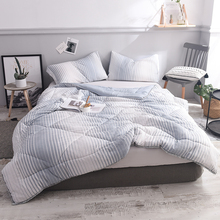 Simple Stripe Summer Bed Coverlet Patchwork Quilt For Single Double Bed  Twin Full Queen Size Quilt (Quilt Only) XF350 12