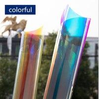 HOHOFILM 1.37x5m Rainbow Window Film Dichroic Rainbow Solar Tint Iridescent Glass Film Window tint for window 54''x196.8''