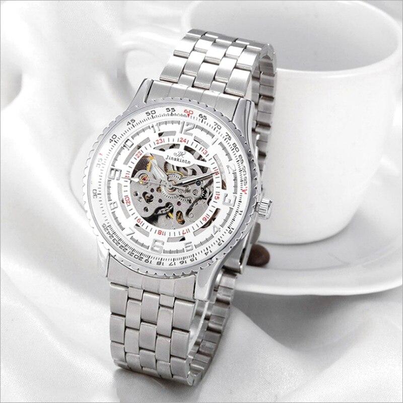 Hot-selling automatic mechanical watch new tourbillon mens business fashion steel belt hollow