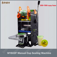WY802F electric manual cup sealing machine 300~500 cups/hour suitable for 9/9.5cm diameter 17cm height cups sealer 220V 110V стоимость
