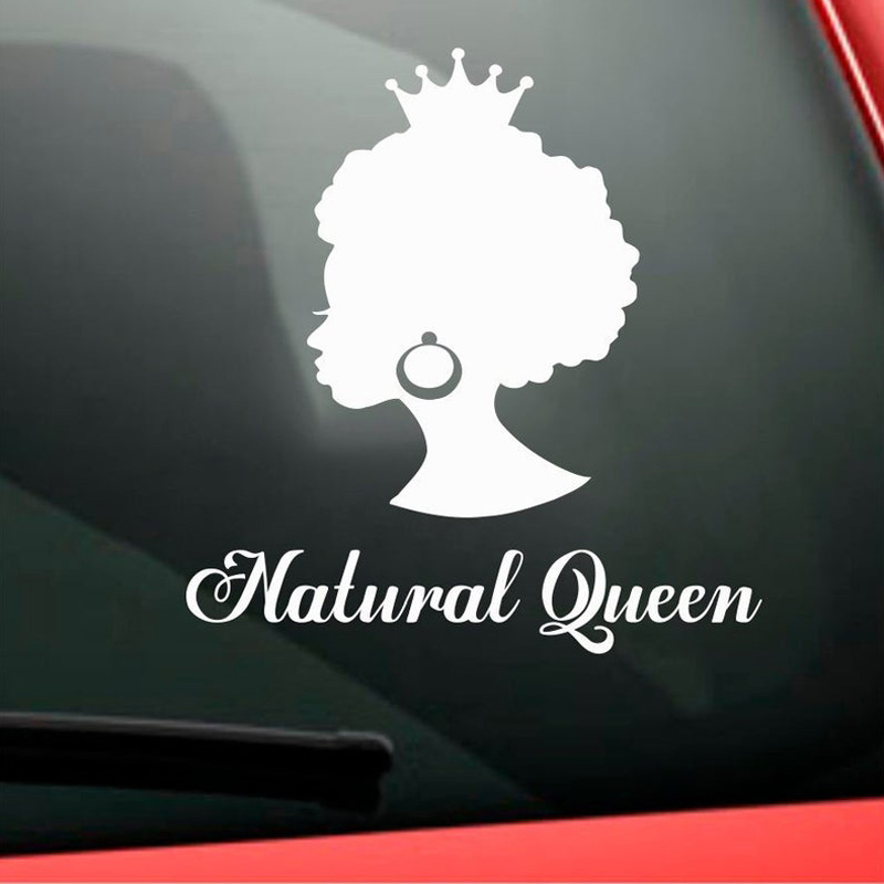 Africa African Style Beauty Salon Decal Hair Salon Window Vinyl Sticker Custom Name Afro American Queen Decor SL34