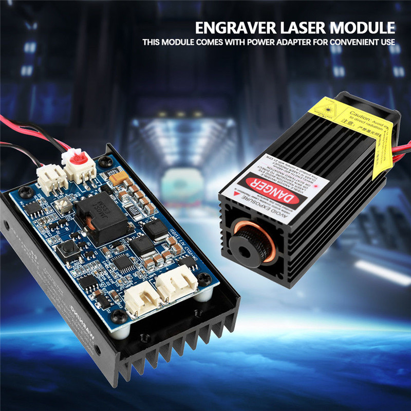 High Power 450nm 15W 15000mW Adjustable Blue Laser Module Laser Head For CNC Laser Engraving Machine And Laser Cutter With PWM