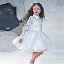 Vestidos De Comunion 2016 Мереживні сукні для дітей Вечірні сукні Дешеві плаття для квітів для весілля Принцеса Досить маленька вечірка для дівчаток