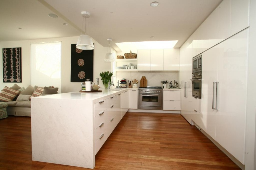 Tall White Kitchen Cabinet Up To Ceiling-in Kitchen