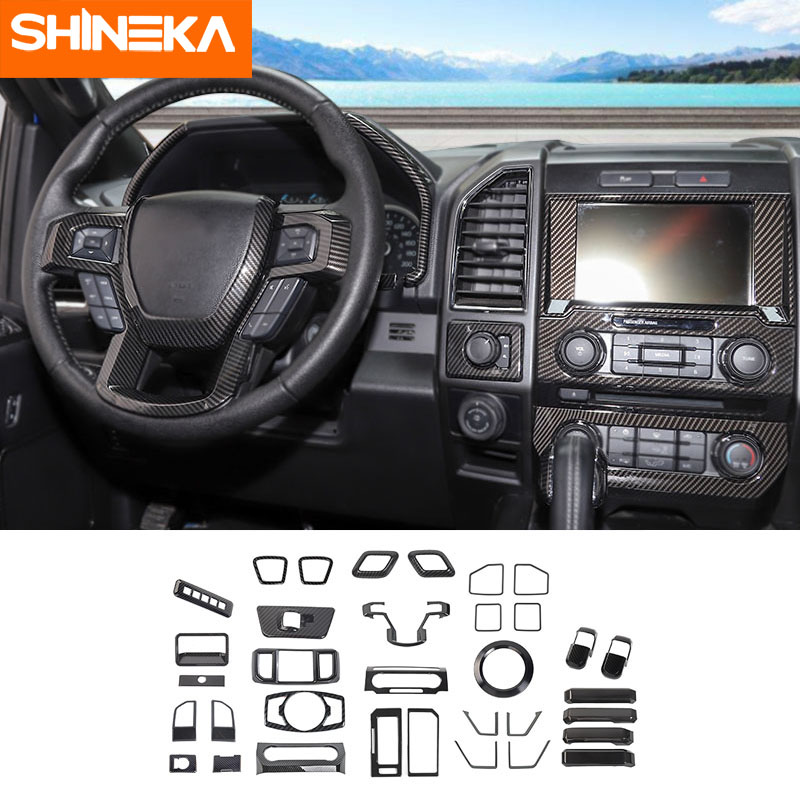 Car Interior Accessories Deroration Styling Trim Kit For Ford F150 2016-2019