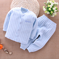 2016 New Spring Baby Clothing Sets 2pc Newborn Baby Boy Set Clothes Winter Cotton Thickening Toddler Warm Infant Set Long Sleeve