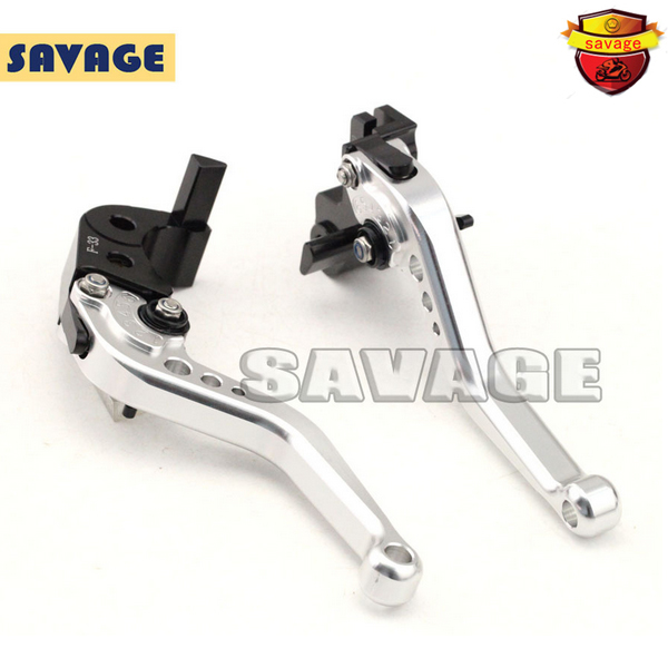 ФОТО For YAMAHA FZ-6R XJ6 Diversion 09-15 Motorcycle Accessories CNC Billet Aluminum Short Brake Clutch Levers Silver