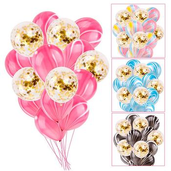 15PcsSet Gold Confetti Balloons Latex Confetti Balloon Happy Birthday Baloon Wedding Decoration Ballon Event Party Supplies button