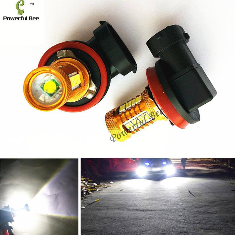 2 x H8 H11 18W super white 700LM led fog lights lamp running bulb for Toyota Corolla 2011-16, Camry 2006-15, free shipping