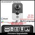 Hikvision ds-2cd2420f-iw (2.8mm) versão original em inglês suporte poe wi-fi mini câmera ip câmera de 2mp ip câmera p2p hik onvif hd