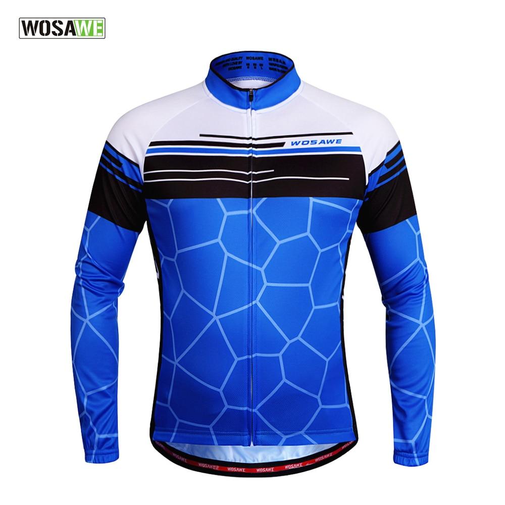 Prix pour WOSAWE Ner Respirant Vélo Jersey À Manches Longues Chemises Ciclismo Maillot Vtt Vélo Veste Vélo Vêtements