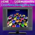 15 polegadas 1024*768 Display de Alta-resolução Full HD Profissional VGA DVI HDMI LCD TV Slim TV HD USB multimídia