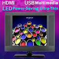 15inch 1024 * 768 High-resolution Display Full HD Professional  VGA DVI HDMI  LCD Slim TV  HD USB Multimedia