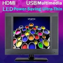 15 pulgadas 1024*768 de Alta resolución de Pantalla VGA DVI HDMI LCD Full HD Profesional Slim TV HD USB Multimedia
