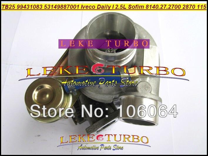 Bateau libre TB25 466974-0010 53149887001 99431083 Turbo Turbocompresseur pour IVECO Daily Je 2.5L 115HP Moteur SOFIM 8140.27.2700 2870